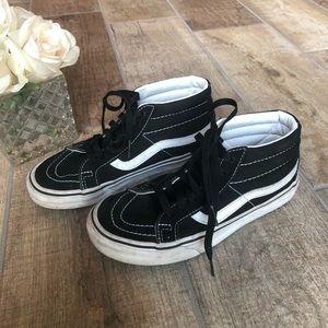 Vans Black & White High Top Skate Shoes Old Skool
